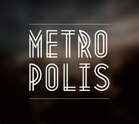 metropolis free font fontfabric