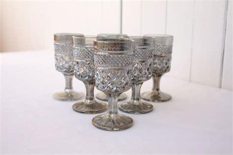 Vintage Cordial Glasses Hollywood Regency Wexford Pewter