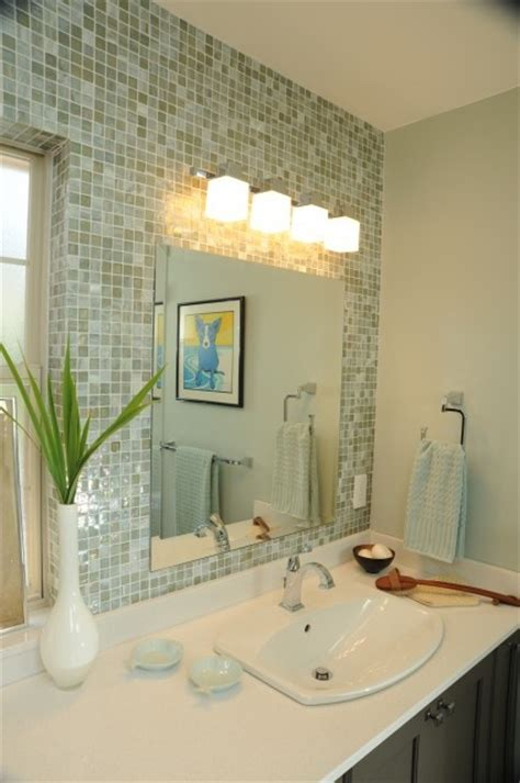 How To Decorate A Bathroom Wall - 31 ideas of using mosaic tile around bathroom mirror