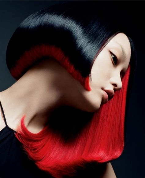 Glossy Black And Red Hair Hair Colors Ideas