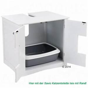 Meuble Sous Lavabo Maison De Toilette Pour Chat Zooplus
