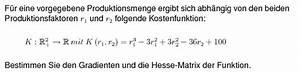 Differenzial Rechnung : mathe aufgaben analysis differenzialrechnung hesse matrix ~ Themetempest.com Abrechnung
