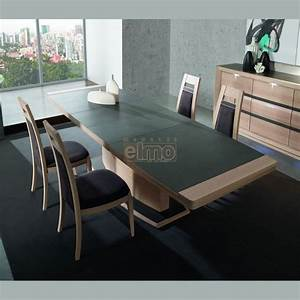 table contemporaine extensible chene plateau ceramique 10 With salle À manger contemporaine avec table À manger design bois