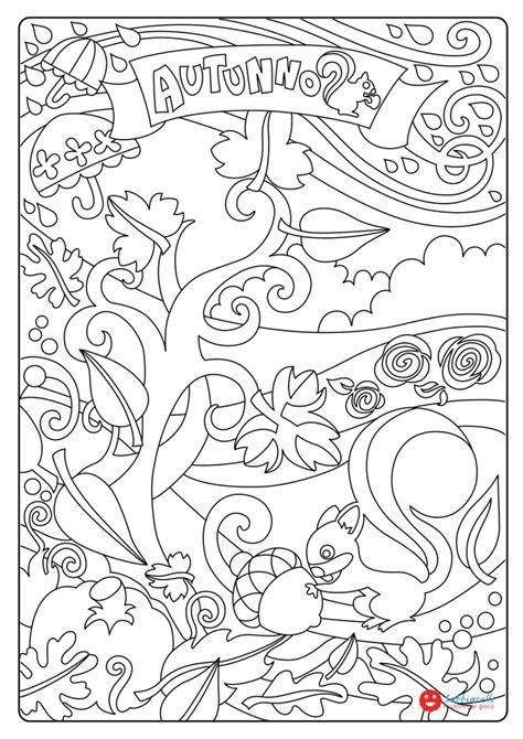 lautunno disegni da colorare sabbiarelli