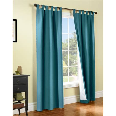 living room insulated curtains with blue curtain and high