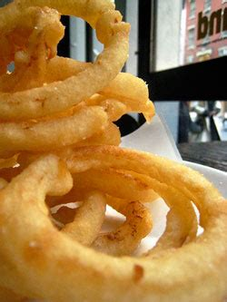 onion rings   york      good
