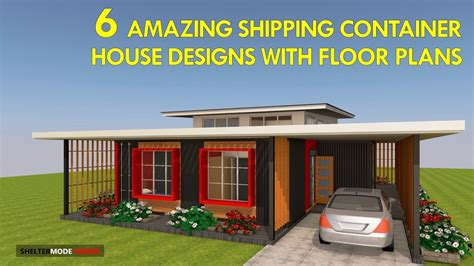 modern shipping container house designs  floor