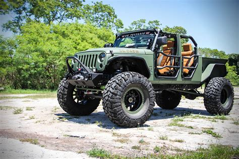diesel brothers jk crew jeep jk crew bruiser on 44 s with a truck bed and four doors