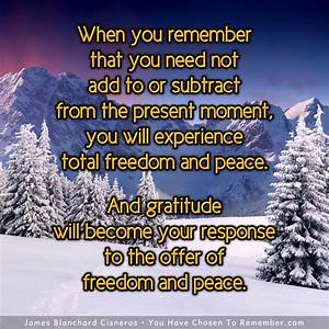 In the Present ... Moment Of Freedom Quotes