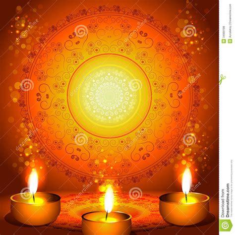 background  diwali festival  lamps stock vector