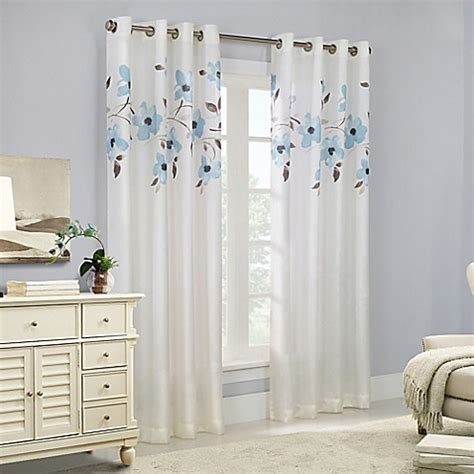 kensington home fashions commonwealth home fashions eden grommet top window curtain panel bed bath beyond