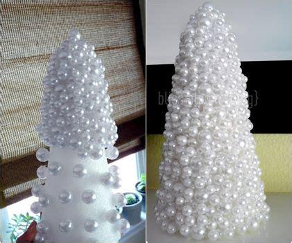 diy christmas tree styrofoam  gems pearls