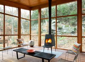 Screen Porch With Fireplace woodstock retreat contemporary porch by hall smith