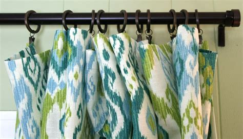 How To Hang Drapes On Traverse Rod by Curtains For The Den Whipstitch