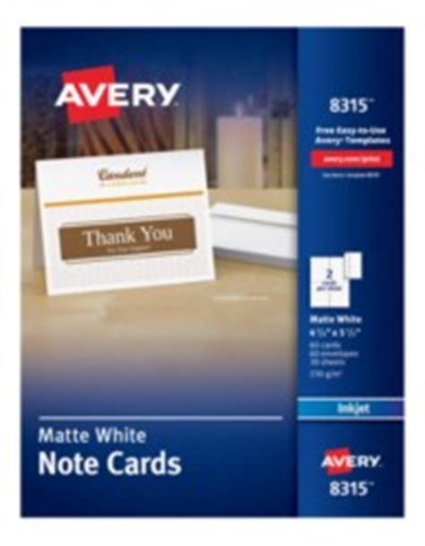 avery printable white matte note cards