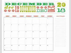 Printable December 2018 Calendar – Printable Calendar