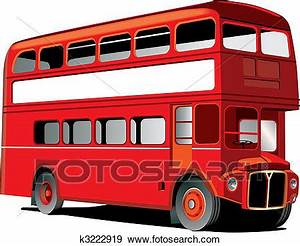 Clip Art of London double decker bus k3222919 - Search ...