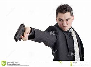Angry Person With A Gun Royalty Free Stock Image - Image ...