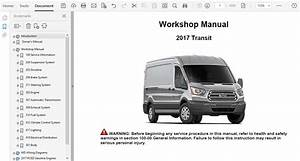 2017 Ford Transit Repair Manual