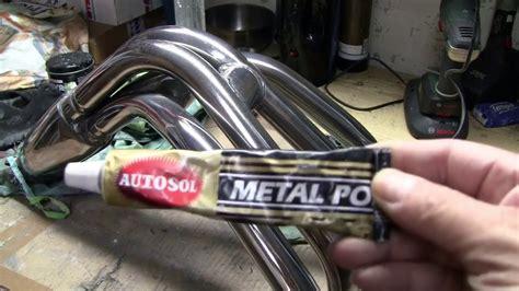 motorrad chrom polieren kr 252 mmer und auspuff polieren so wirds gemacht