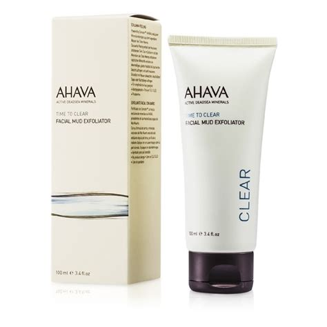 ahava time to clear mud exfoliator the