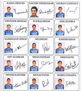 Handwriting Analysis of Indian Cricket Team - World of ...