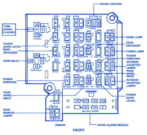 Chevrolet Silverado Fuse Box Block Circuit Breaker