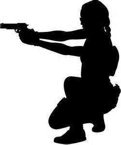 Female Soldier Silhouette | Free vector silhouettes