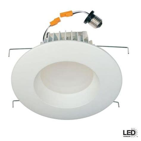 can light trim led commercial electric 6 in recessed white led retrofit trim