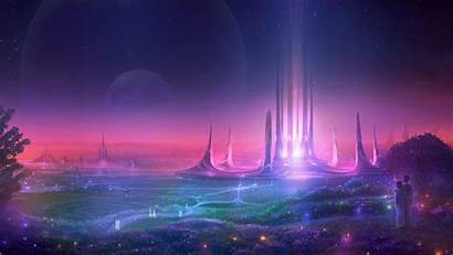 Futuristic Sci Fi Planet Cityscape Wallpapers 1440