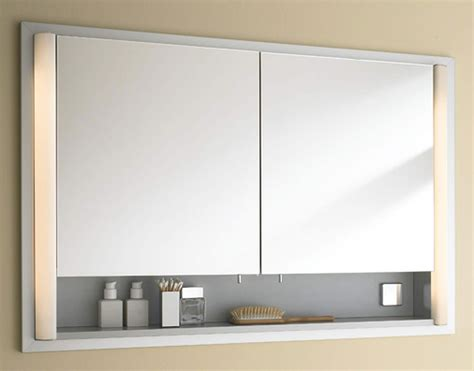 Mirrored Bathroom Cabinets by Duravit 800mm 2 Door Built In Mirror Cabinet With Open