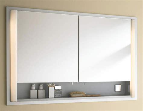 Duravit 800mm 2 Door Built In Mirror Cabinet With Open