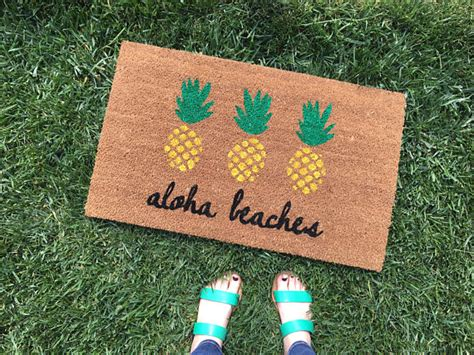 pineapple door mat aloha beaches pineapple doormat pineapple decor