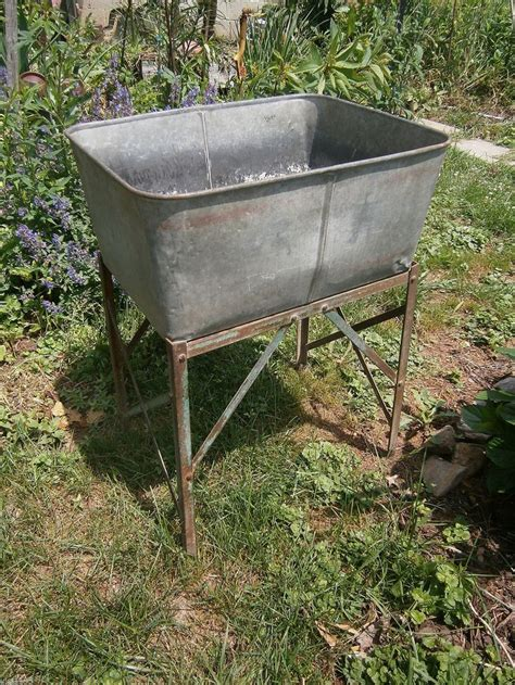 Rectangle Galvanized Tub by 49 Best Images About Galvanized Wash Tubs On