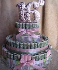 MONEY CAKE 16th Birthday Unique and Fun by CreativeCreationsMC