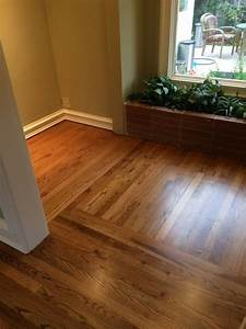 Solid red oak sand & refinish with early american stain