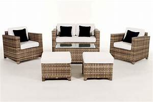 Rattan Gartenmöbel Lounge : luxury deluxe natural das gartenm bel set f r terrasse und garten ~ Frokenaadalensverden.com Haus und Dekorationen