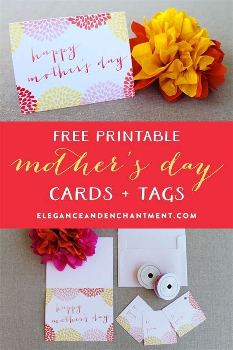 free printables archives elegance enchantment watercolor style mothers day card and gift tags free