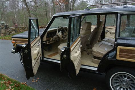 1989 jeep wagoneer interior 1989 jeep grand wagoneer 51 000 miles black tan interior