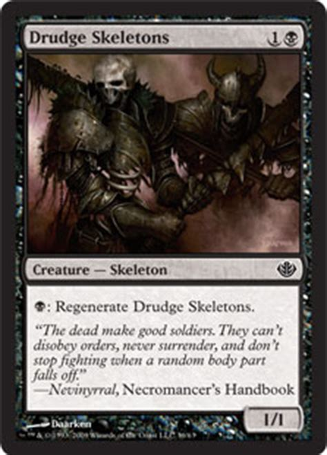Mtg Skeleton Deck by Drudge Skeletons The Magic The Gathering Wiki Magic