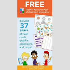 Free Teacher Resource Pack Of Classroom Printables  37 Pages Of Flash Cards, Graphic