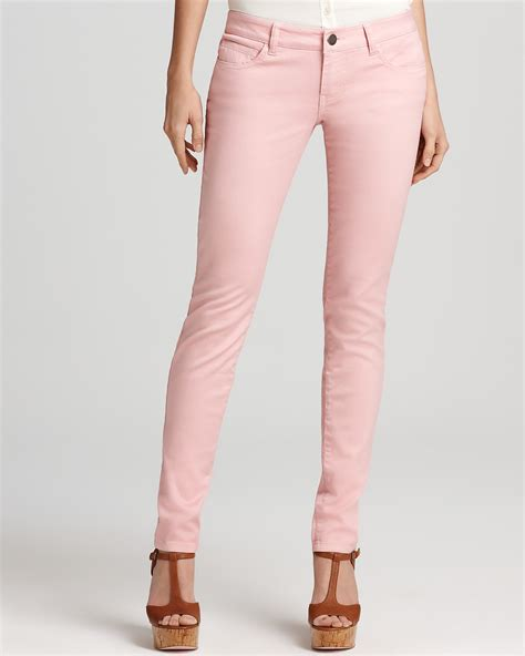 light pink skinny jeans aqua denim basic skinny in sweet light pink bloomingdale 39 s