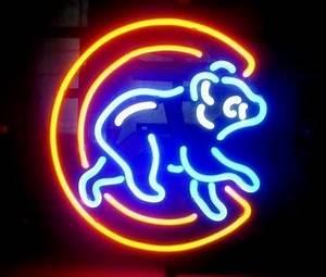 MLB Chicago Cubs Bear Baseball Neon Light Sign 16