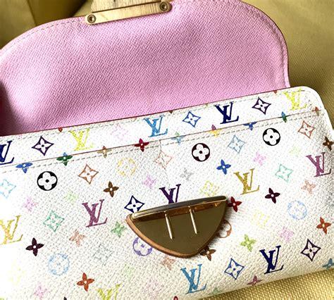 louis vuitton white multicolor eugenie wallet luxurylana boutique