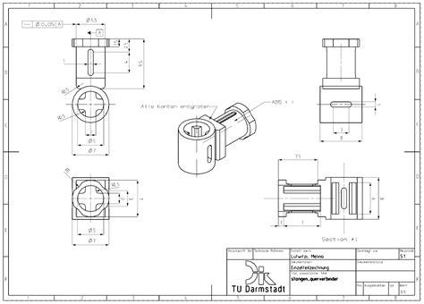 technische zeichnung ansichten 9 2 zeichnungsableitung