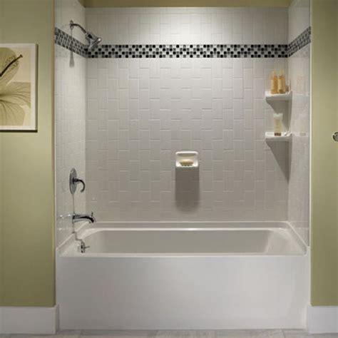 white subway tile tub surround ideas  pictures