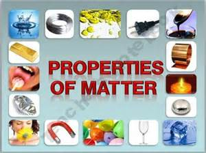 Physical Properties of Matter Science