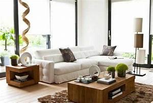 Deco Interieur Zen : abbinare legno nel salone 20 idee per arredare il salone ~ Melissatoandfro.com Idées de Décoration