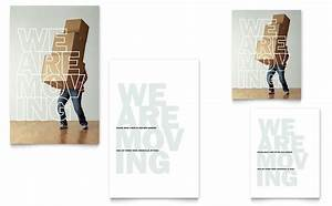 Christmas Poster Template Word We 39 Re Moving Note Card Template Word Publisher