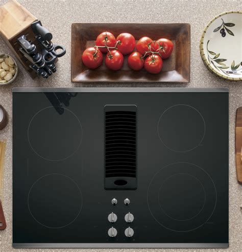 ppsjss ge profile series  downdraft electric cooktop stainless steel